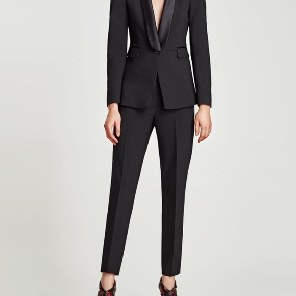 Zara Pants - Tuxedo pants with side Detail